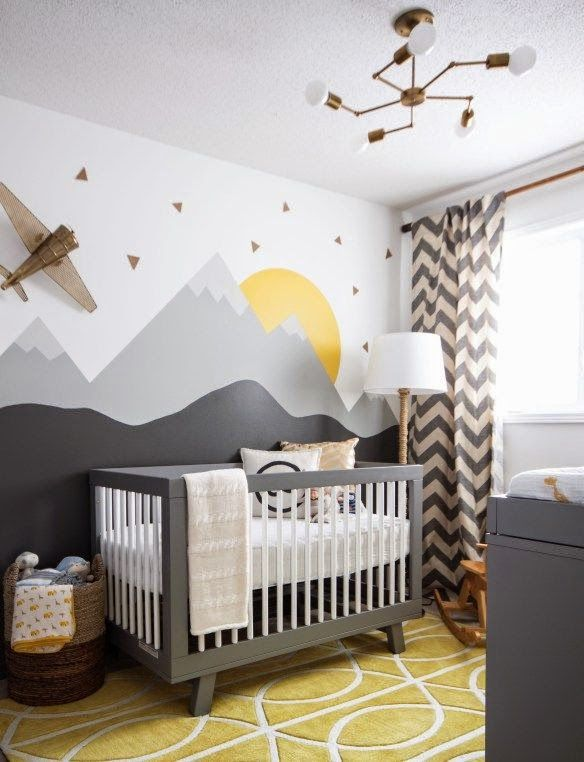 This Nurseryu0027s Motif May Be A Little Dated, But Love This Idea Of A Very  Flat, Simple Mural As A Backdrop. Even If I Copied This Exact Mural, Iu0027d  Definitely ...