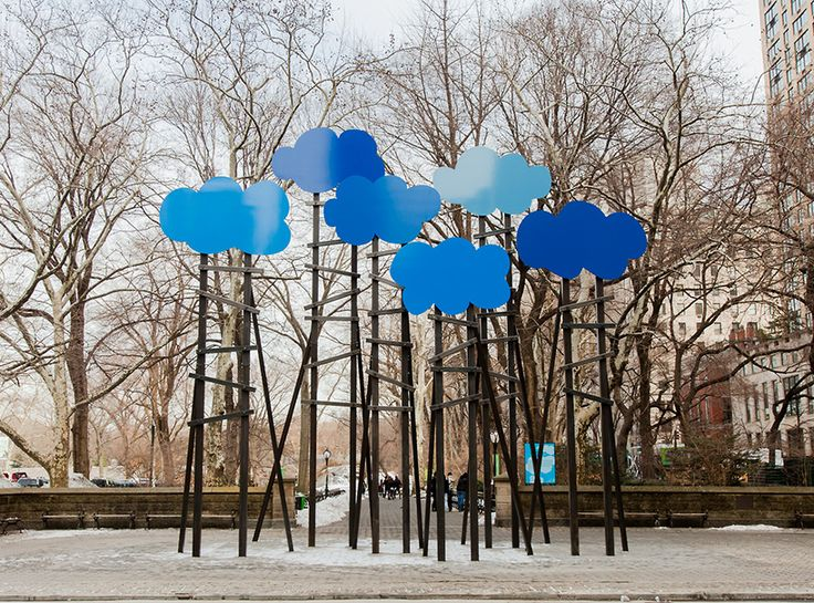 clouds by olaf breuning in central park, nyc