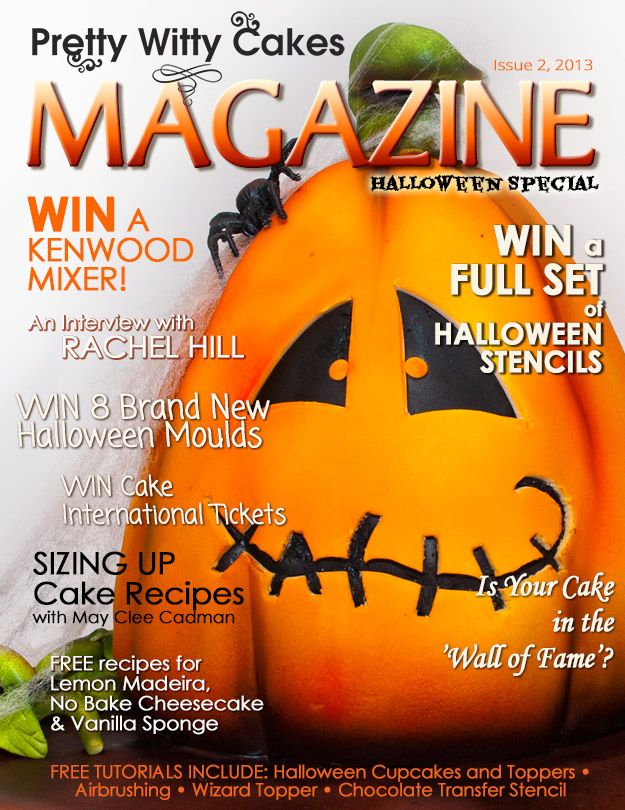 The Halloween edition of the Magazine with masses of FREE giveaways. Sign up for your free copy each time it is issued here https://www.prettywittycakes.co.uk/pretty-witty-cakes-magazine