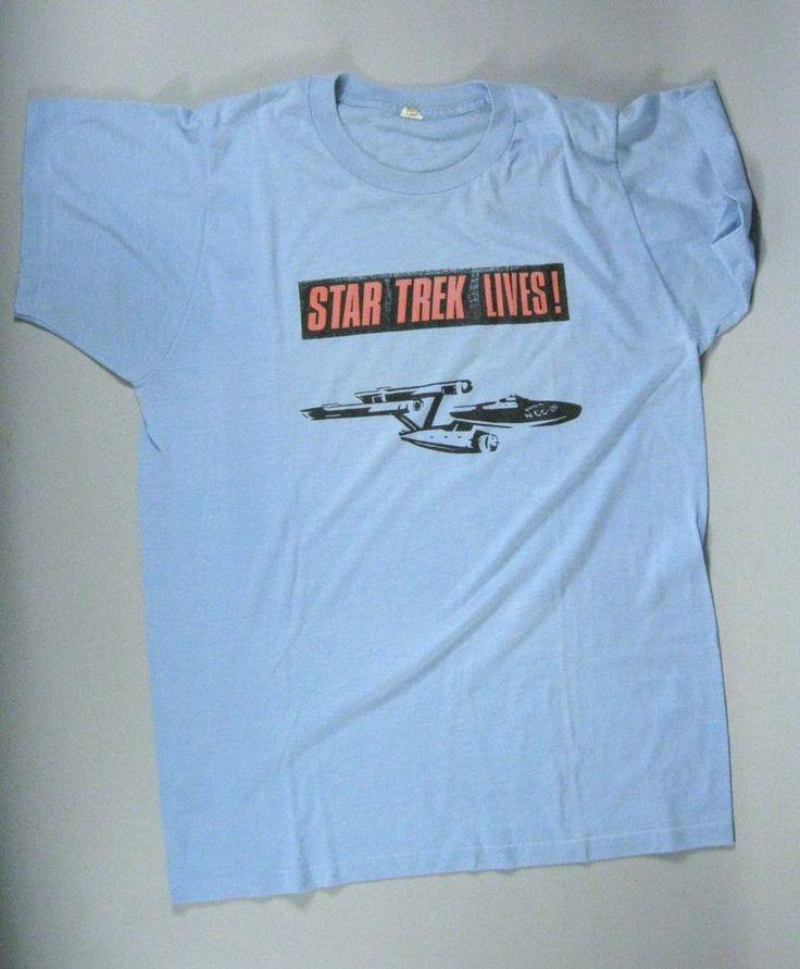 Star Trek Lives Size Large 42 44 T Shirt Short Sleeve Vintage Fruit Loom USA