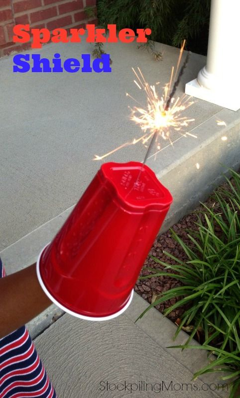 Sparkler Shield -great for protecting little hands on July 4th!