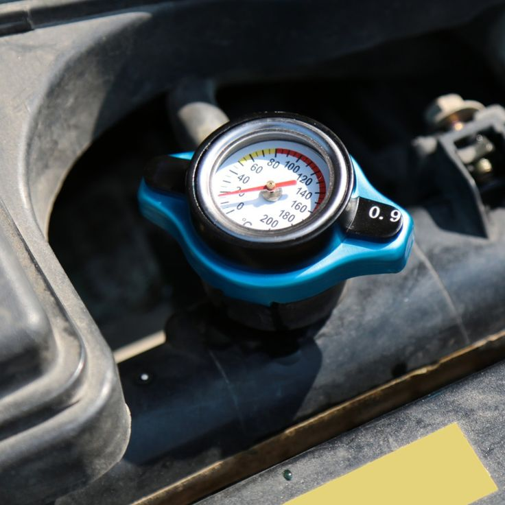 car accessory Thermost Radiator Cap COVER + Water Temp gauge 0.9BAR Cover Blue
