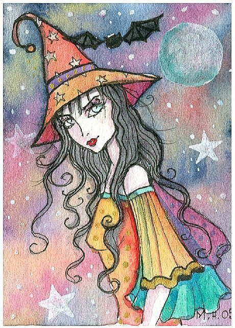 Molly Harrison Sparkling Witch ACEO