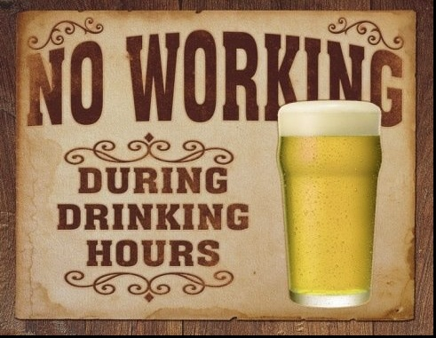 No Working during Drinking HoursTins Signs, Funny Signs, Drinks Hour, Vintage Tins, Retro Vintage, Man Caves, Vintage Style, Beer Signs, Bar Signs
