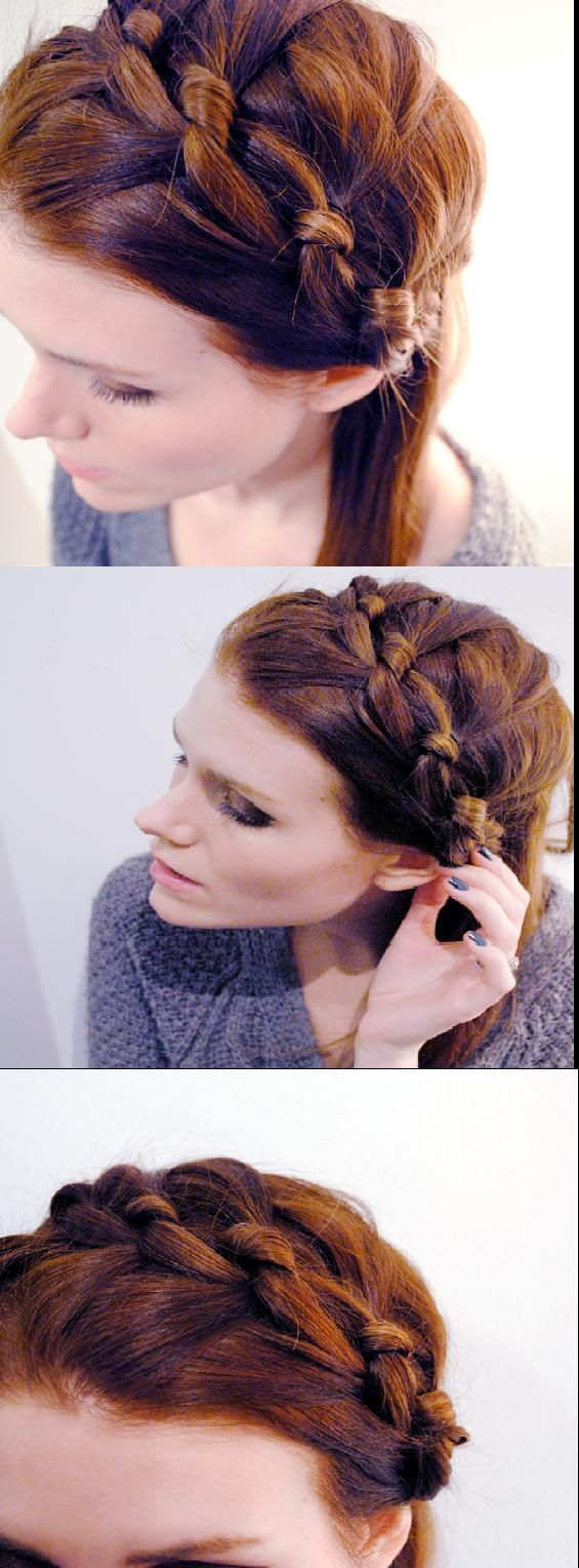 Best Hair Tutorials Images On Pinterest Hairstyles Hair - Diy hairstyle knotted milkmaid braid