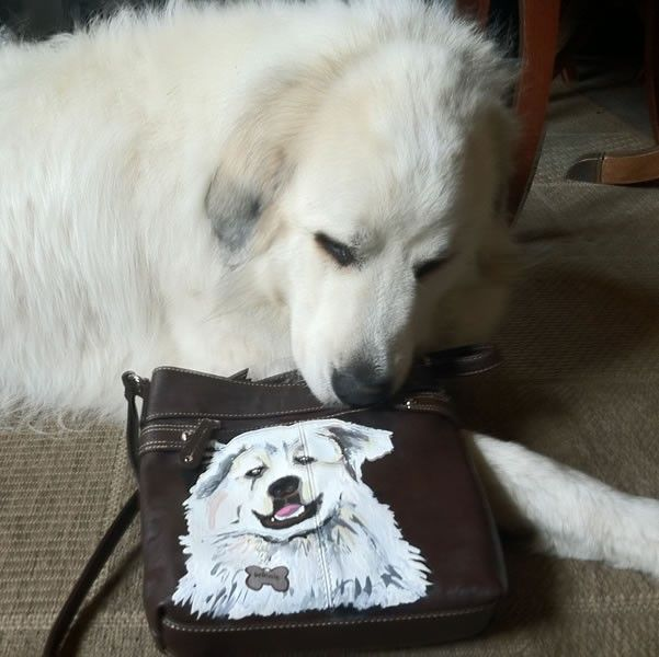 Custom Dog Purse!!!  From Jellyfish. $ 800.00  Create your own custom dog Purse!!!Dogs Purses, Painting Shoes, Hands Painting, Punky Hands, Custom Dogs