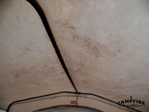 Cleaning canvas on a pop-up camper