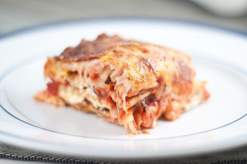 Summer Squash and Portobello Mushroom Vegetarian Lasagna by Herbivoracious