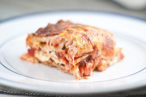 Summer Squash and Portobello Mushroom Vegetarian Lasagna by Herbivoracious