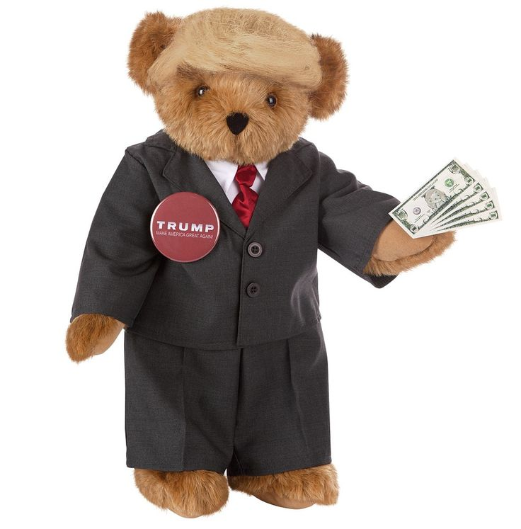 Spectacular Trump Bear presidential candidate bear from Vermont Teddy Bear pany Donald Trump