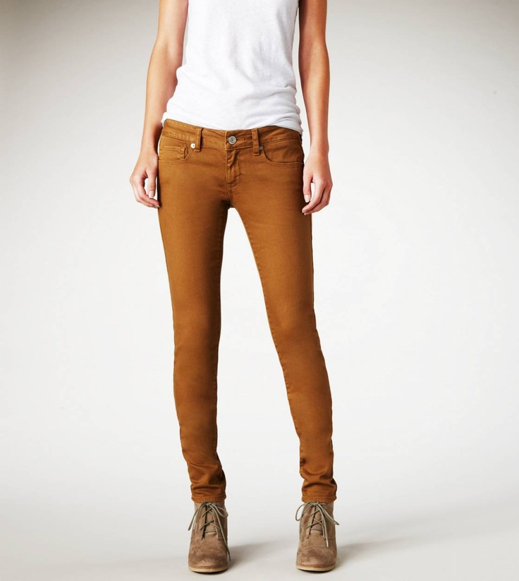 love that color.: A Mini-Saia Jeans, Fashion, Skinny Jeans, Colors Jeans, Clothing, American Eagles Outfitters, Rusty Bronze, American Eagle Outfitters, Brown Jeans