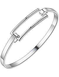 NYKKOLA New Fashion 925con diseño de joyas para hombre Mujer Pendientes de los hombres de plata maciza chapado en joyas pulsera