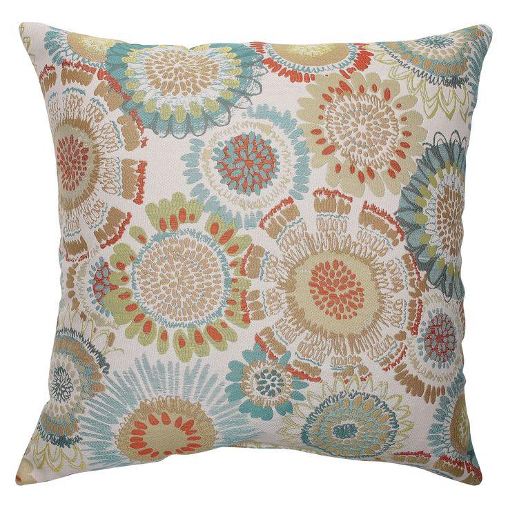 "Pillow Perfect Maggie Mae Aqua Throw Pillow -  (18""x18"")"