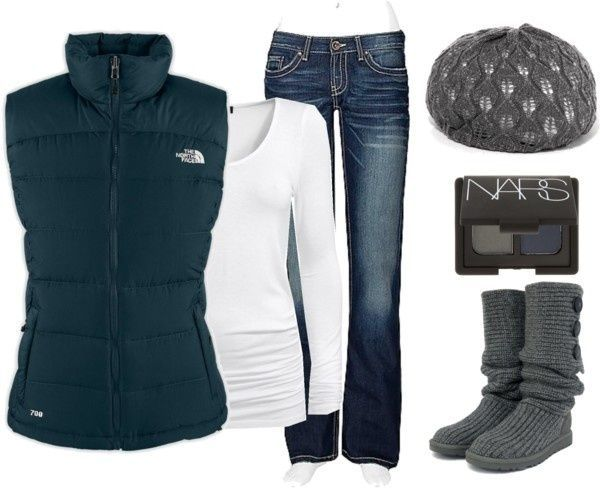 how andwhen to wear a puffy vest | Source: http://www.hotskicks.com/womens-north-face-black-friday-north ...