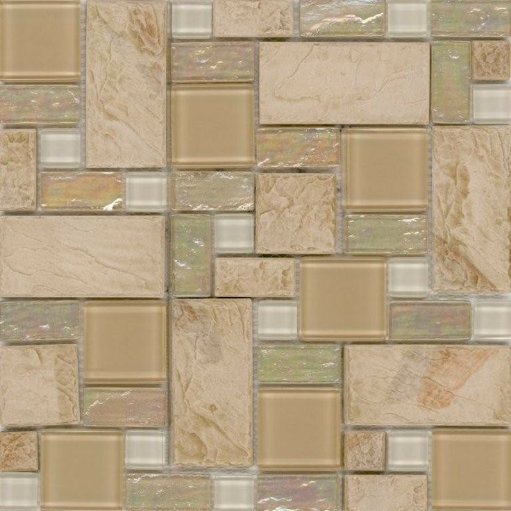 slate glass tile french pattern sand