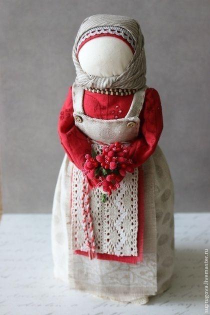 """Народные куклы ручной работы. Ярмарка Мастеров - ручная работа """"Северные ягоды"""" кукла-образ. Handmade."""