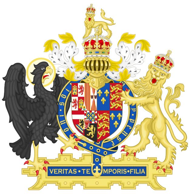Coat of Arms of Mary I - Veritas Te Mporis Filia
