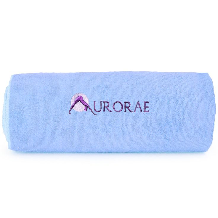 Aurorae Non Slip Hot Microfiber Yoga Mat Towel. High Quality, super absorbent, Micro Fiber Towel; Acts as an ideal moisture absorbent towel to wipe away perspiration and Create a Slip Free Surface, colors that match our Classic Mat. Mats Not Included and sold Separately. Lush, Light Weight, Super Soft for Comfort, Easy to Carry and Travel with; Ideal to lay over a carpet for clean yoga/exercise surface. Machine wash separately, Cold water and detergent; Tumble dry Low, 80% Polyester 20%...