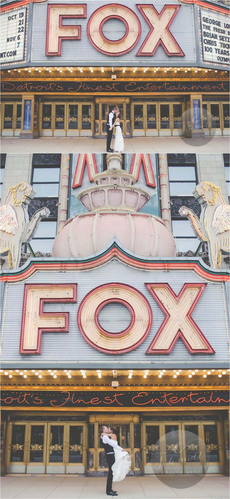 Fox Theatre wedding idea | E Schmidt Photography | Metro Detroit Wedding Photographer