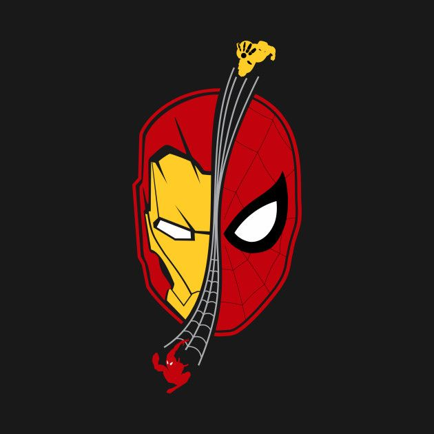 Check out this awesome 'Spidey+Ironman+Face+Homecoming' design on @TeePublic!