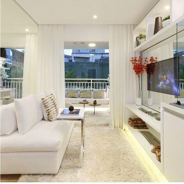 total clean apartamento com sala de televis o toda branco