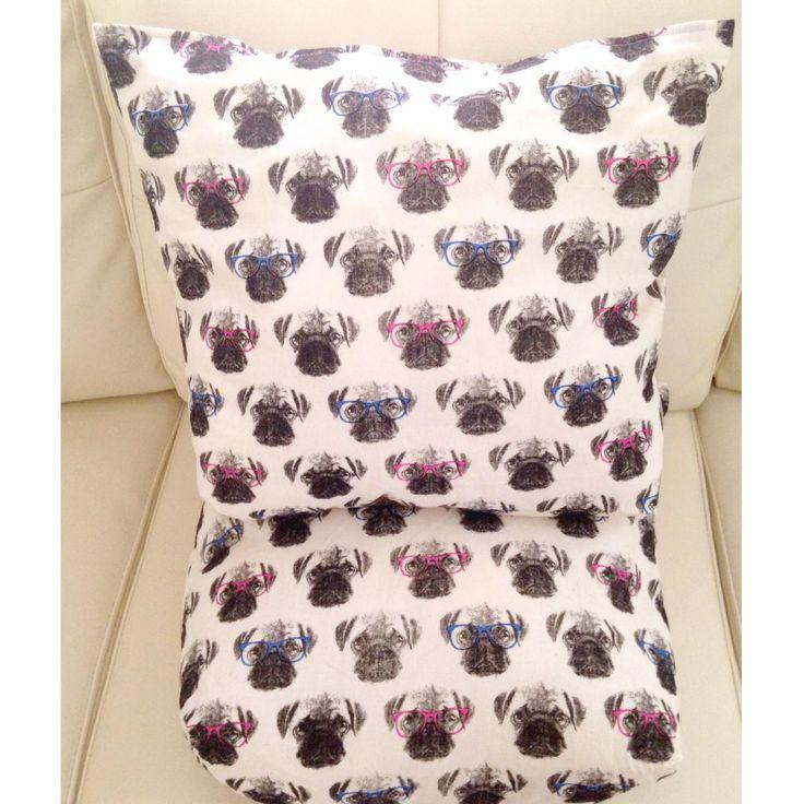 Pug Print Cushions
