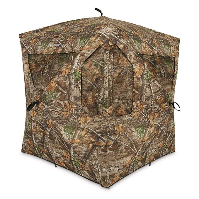 Ameristep Brickhouse Ground Blind Realtree Edge Frame Frame Hunting Hunting Tent Ground Blinds Realtree Hunting