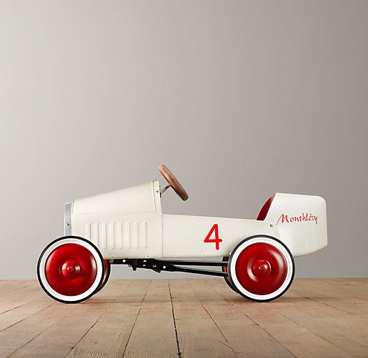 Every child who loves the wind in his hair should drive a pedal car inspired by a 1930s Bugatti racecar.