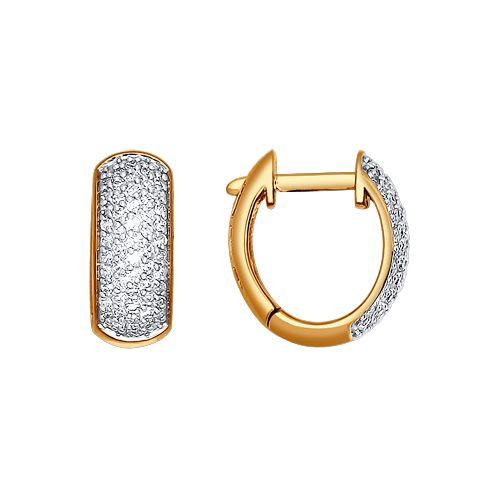 Серьги-колечки с бриллиантами