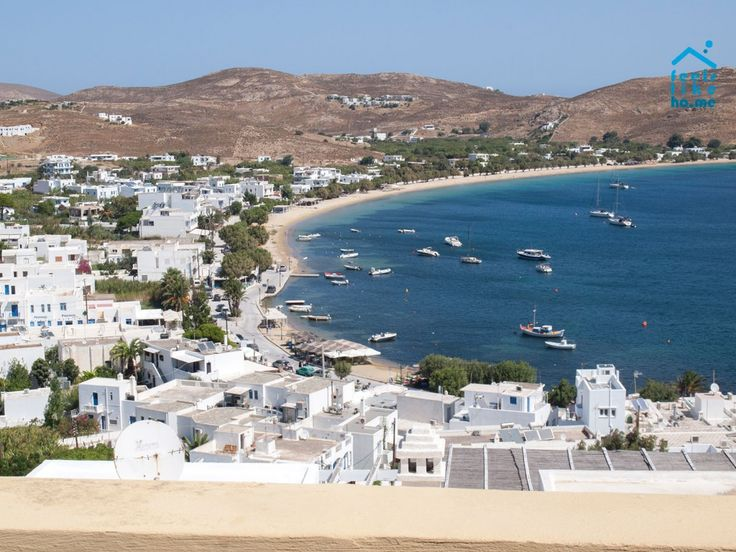 View from the balcony over Livadi beach. Serifos, you are indeed beautiful