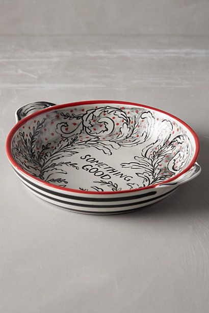 Molly Hatch Crowned Leaf Pie Dish #anthropologie