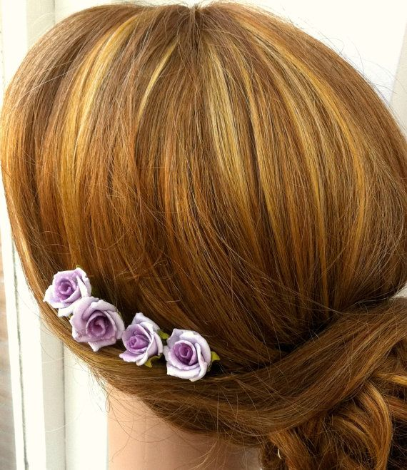 Rose Bobby Pins, Rose hair flowers, rose hair clips, flower bobby pins, bridesmaids bobby pins, bridesmaids accessories on Etsy, $13.50