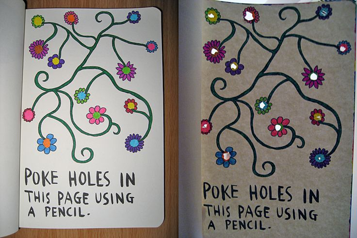 wreck this journal ideas   Keri Smith's Wreck This Journal. Help me buy a new one?   Just Some .....