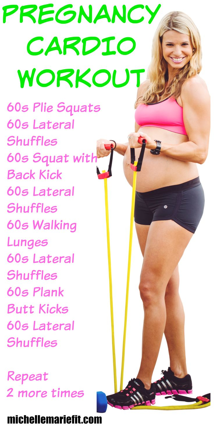 This is a great cardio workout that I can do during pregnancy.  Love that it can be done at home with no equipment.  This girl has great pregnancy workouts.  Totally doing this!