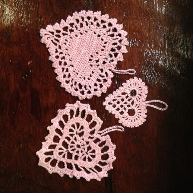 Crochet Valentine ornaments