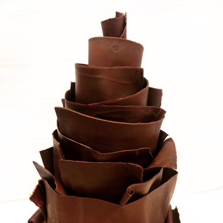 Three tiered chocolate fudge cake