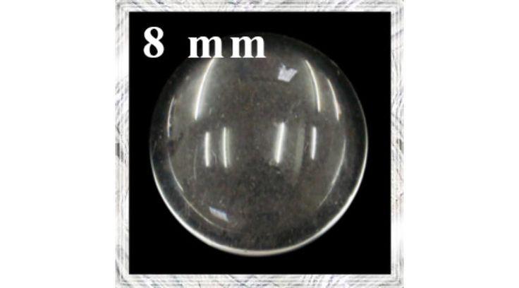 Lapos hátú áttetsző üveg lencse edzett üvegből 8 mm - Csinálj Ékszert Ékszerkellék Webáruház