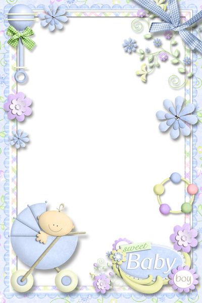 Photo Frame for Baby Boy | Cute Frames | Baby scrapbook, Baby frame, Baby clip art