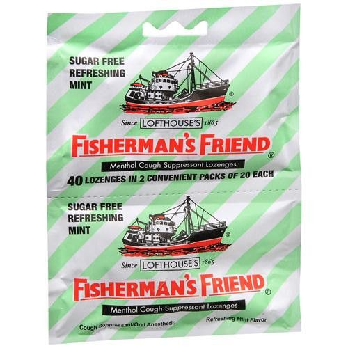 Fisherman's Friend Lozenges - Sugar Free Mint - Ctr Dsp - 40 Ct - 1 Case