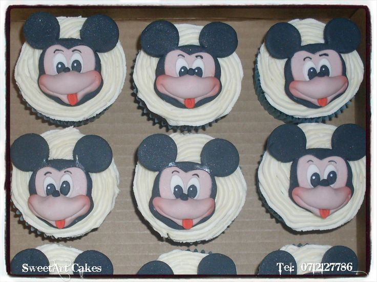 Mickey Mouse Cupcakes (Decor available for sale separately)  For orders and more info email Sweetartbfn@gmail.com or call 0712127786.  www.facebook.com/SweetArtCakesBfn