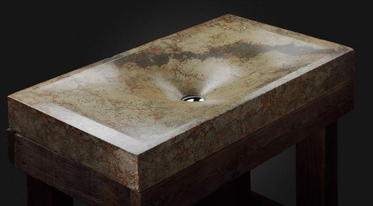 Design sink by Pietra Danzare. Handcrafted of concrete