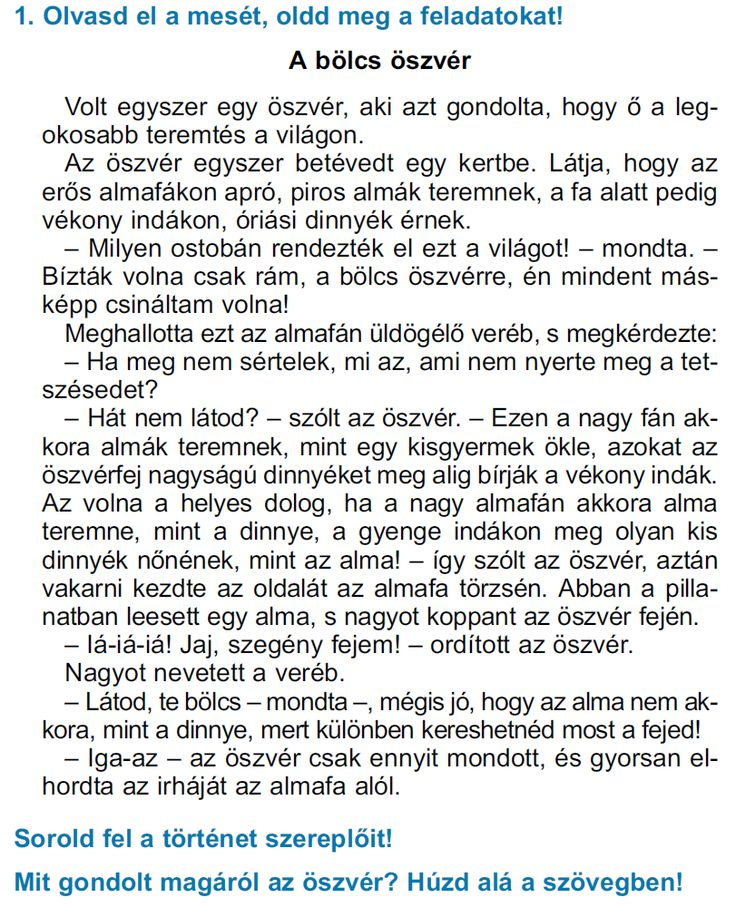 SZÖVEGÉRTÉSI FELADATLAPOK 1. OSZTÁLY II. FÉLÉV - webtanitoneni.lapunk.hu