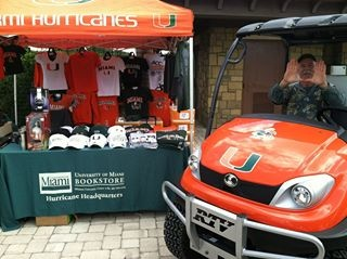 UM Bookstore - Don't hide your pride! The UM Bookstore, located in the Whitten University Center in the heart of campus, is your headquarters for all kinds of UM clothing, gifts, and spirit gear. University of Miami alumni get a 10% discount on merchandise (excluding text books) when they show their Alumni 'Cane Card for in-store purchases.