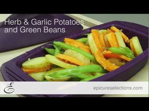 Steamed Herb & Garlic Potatoes and Green Beans