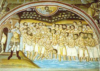Pictor de Icoane: Sfintii 40 de Mucenici din Sevastia - cind general...