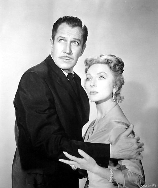 Vincent Price and Agnes Moorehead, in The Bat (1959)