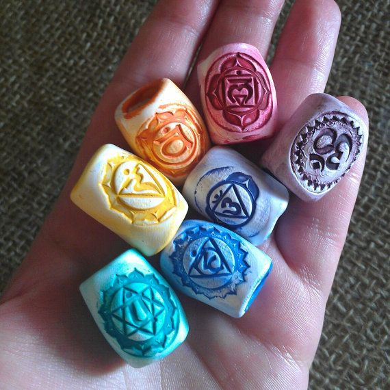 Chakra Dread Beads Set of 7 by HipHippieHooray on Etsy