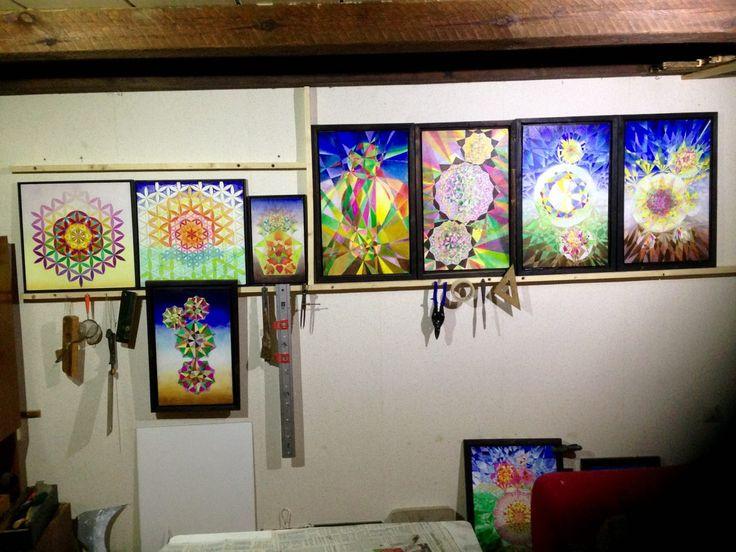 Ansicht der neuen #Tafelmalereien in der #Werkstatt