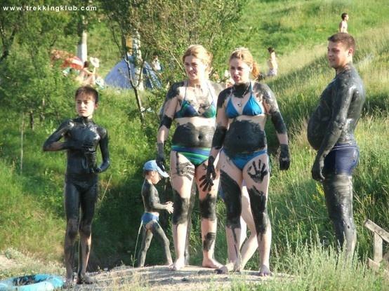 Mud good for joints, elbows, knees, etc. - #Ocna_Sibiului, #Transylvania.