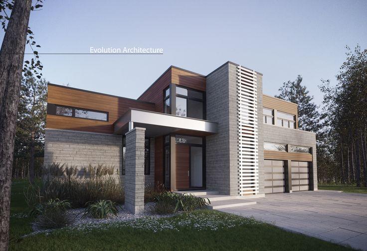 Evolution Architecture, maison contemporaine, création exclusive E-840